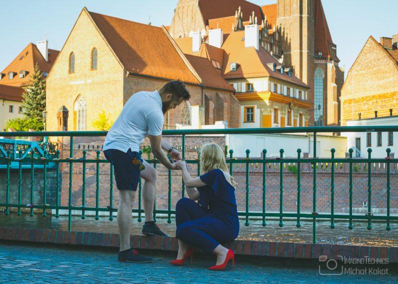Narzeczeńska sesja plenerowa we Wrocławiu